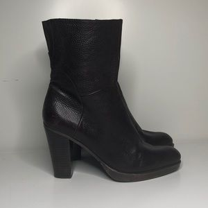 Nine West brown leather Campion heeled boots 10